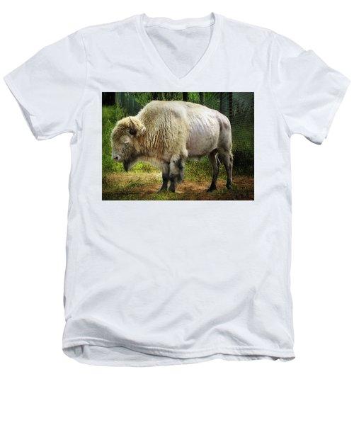 White Cloud Men's V-Neck T-Shirt