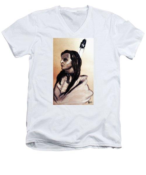 White Cloud.sicangu.1880 Men's V-Neck T-Shirt