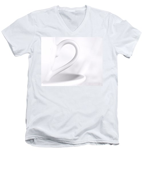 White Cup And Saucer Men's V-Neck T-Shirt by Josephine Buschman