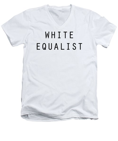 White Equalist Men's V-Neck T-Shirt