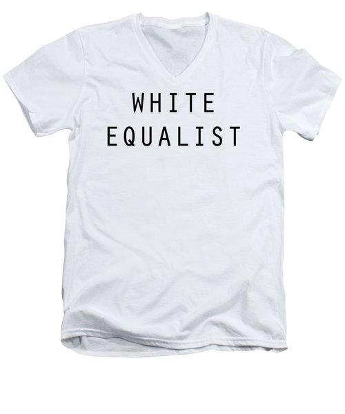 White Equalist Men's V-Neck T-Shirt