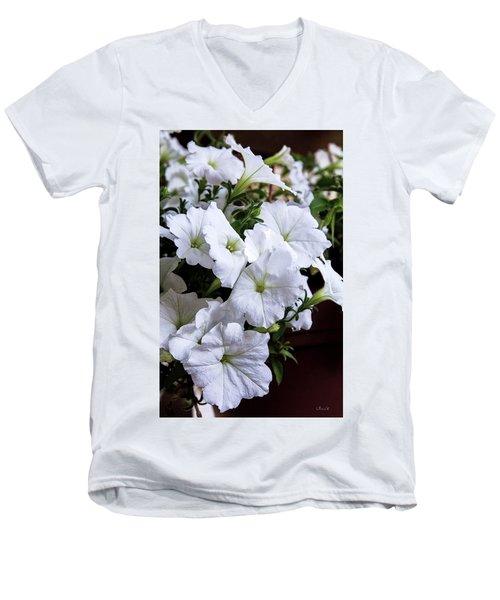 White Flowers Men's V-Neck T-Shirt