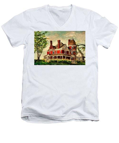 White Hall Men's V-Neck T-Shirt