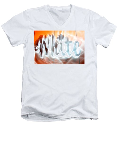 White Hot Men's V-Neck T-Shirt