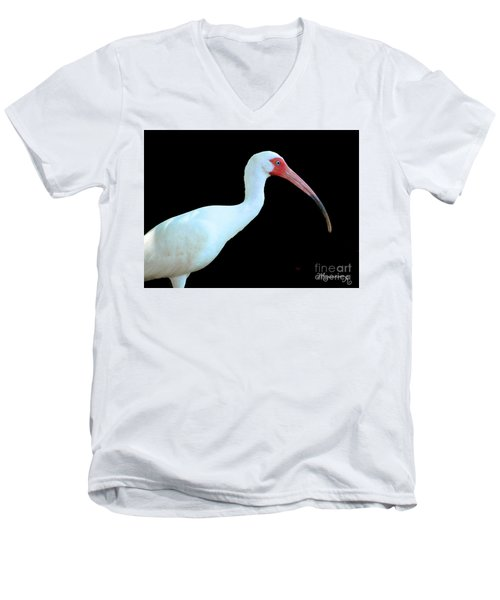 White Ibis Men's V-Neck T-Shirt