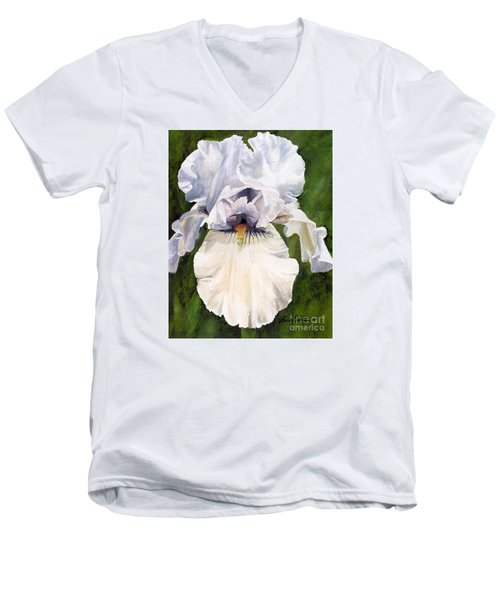 White Iris Men's V-Neck T-Shirt