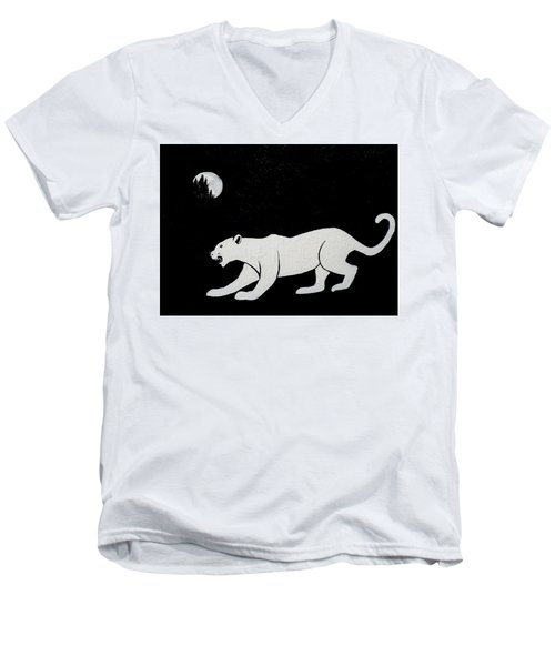 White Panther Men's V-Neck T-Shirt