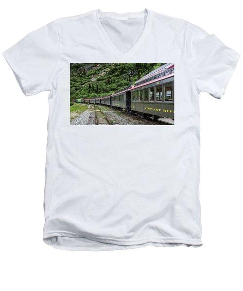 White Pass And Yukon Railway Men's V-Neck T-Shirt