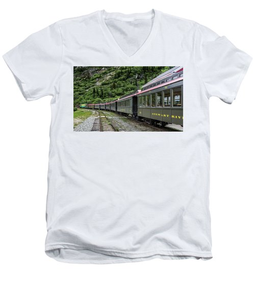 White Pass And Yukon Railway Men's V-Neck T-Shirt