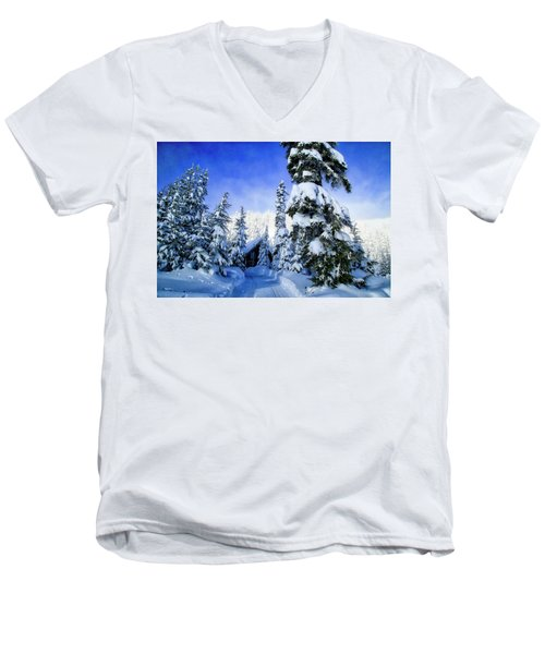 White Pass Chalet Men's V-Neck T-Shirt