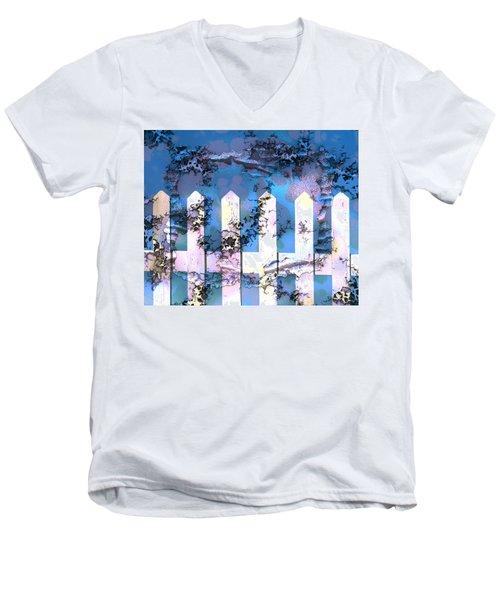 White Picket Fence Men's V-Neck T-Shirt