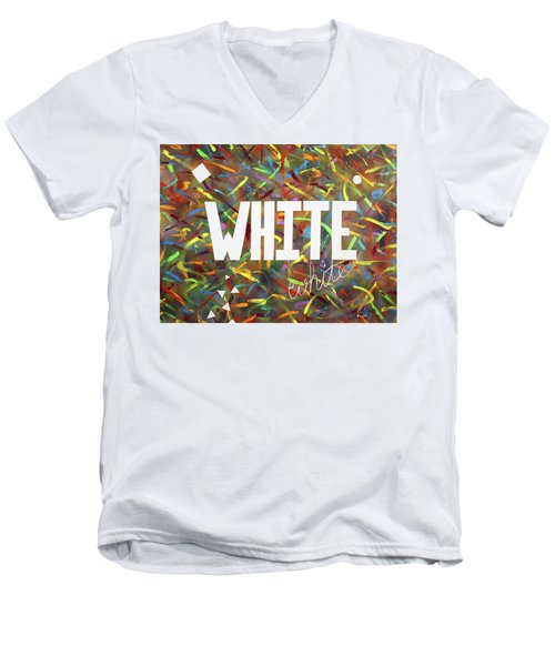 White Men's V-Neck T-Shirt