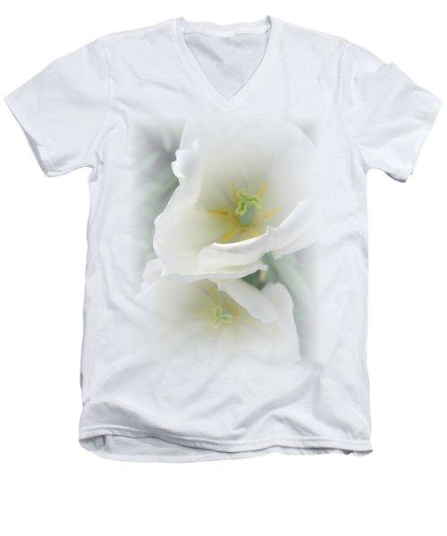 White Tulip Fantasy Men's V-Neck T-Shirt