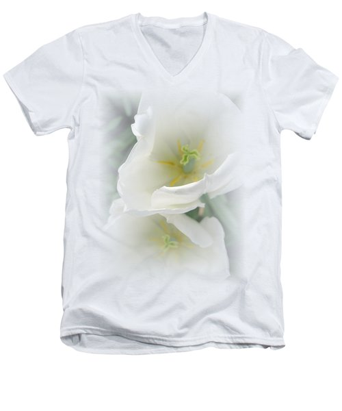 White Tulip Fantasy Men's V-Neck T-Shirt