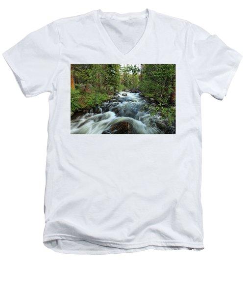 White Water Stream Men's V-Neck T-Shirt