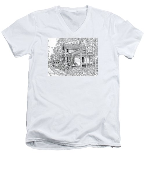 Whitehall Station Bryn Mawr Pennsylvania Men's V-Neck T-Shirt