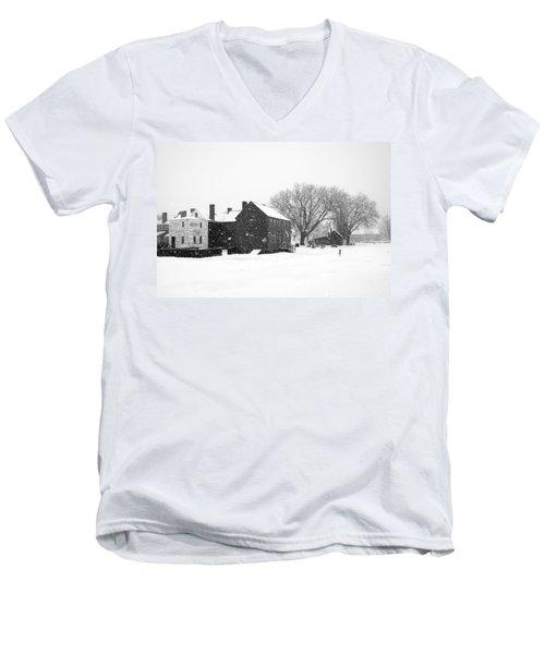Whiteout At Strawbery Banke Men's V-Neck T-Shirt