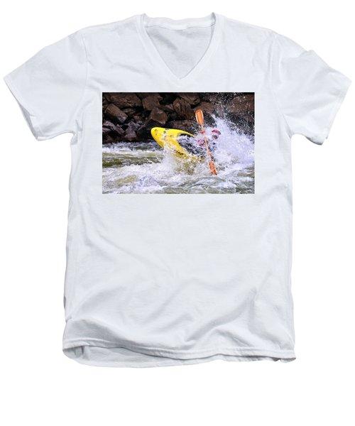 Whitewater On The New River Men's V-Neck T-Shirt