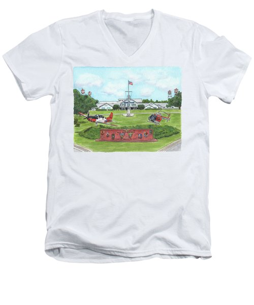 Whiting Field Welcome Sign Men's V-Neck T-Shirt