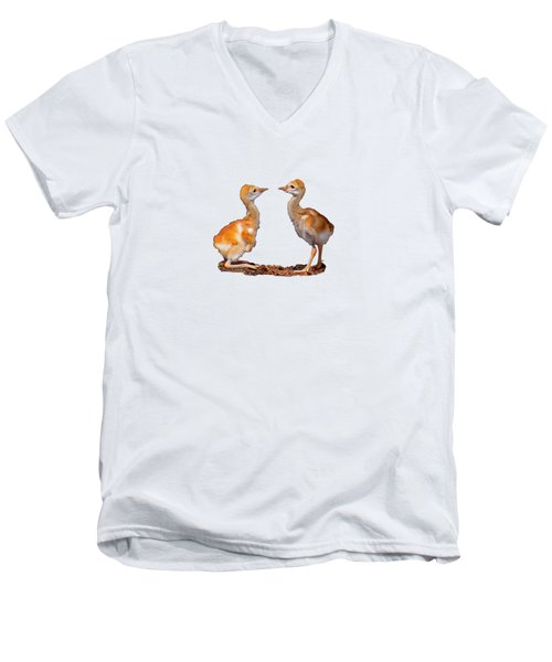 Who Is Bigger? Men's V-Neck T-Shirt