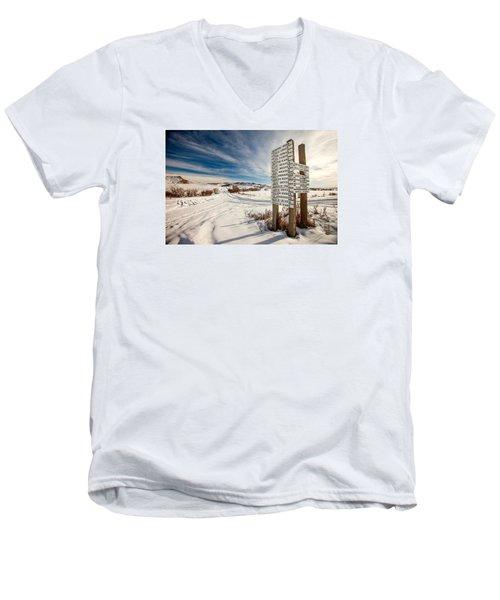 Who Lives Where Men's V-Neck T-Shirt