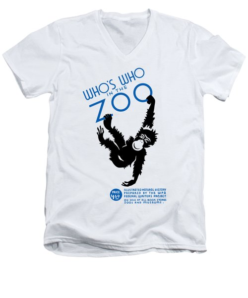 Who's Who In The Zoo - Wpa Men's V-Neck T-Shirt