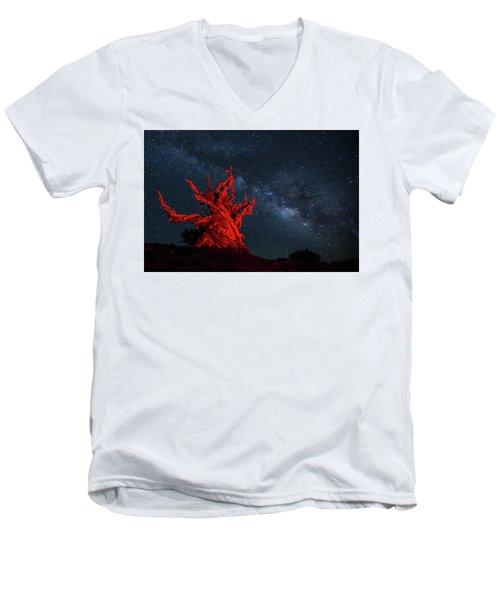 Wicked Men's V-Neck T-Shirt by Tassanee Angiolillo