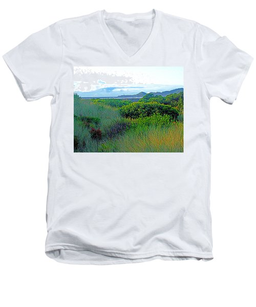 Wild Coastal Flora Men's V-Neck T-Shirt