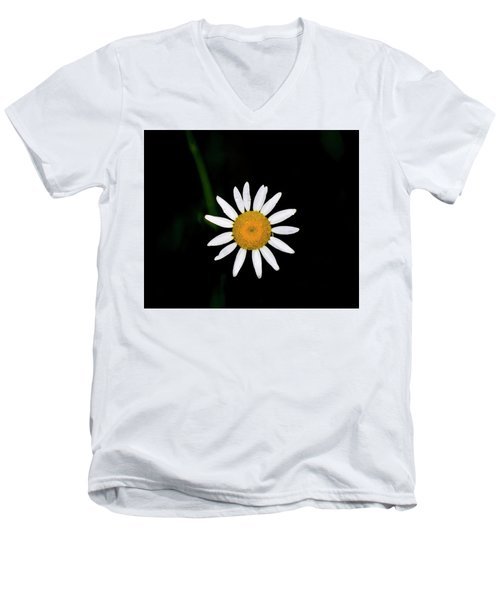 Men's V-Neck T-Shirt featuring the digital art Wild Daisy by Chris Flees