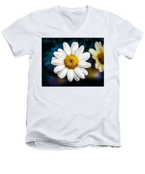 Men's V-Neck T-Shirt featuring the photograph Wild Daisy by Nick Bywater