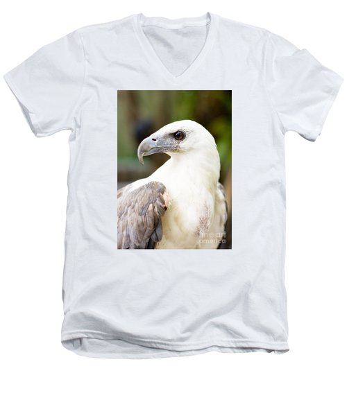 Men's V-Neck T-Shirt featuring the photograph Wild Eagle by Jorgo Photography - Wall Art Gallery