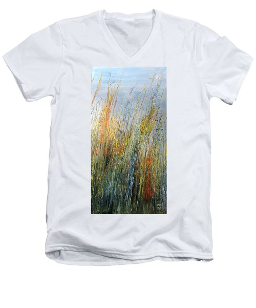 Wild Flowers And Hay Men's V-Neck T-Shirt