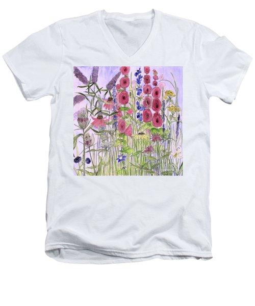 Wild Garden Flowers Men's V-Neck T-Shirt