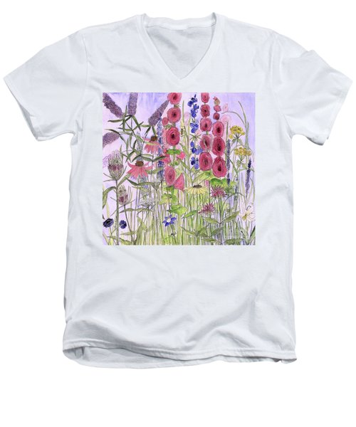 Wild Garden Flowers Men's V-Neck T-Shirt