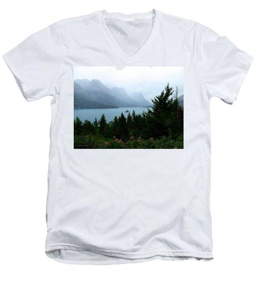 Wild Goose Island In The Rain Men's V-Neck T-Shirt