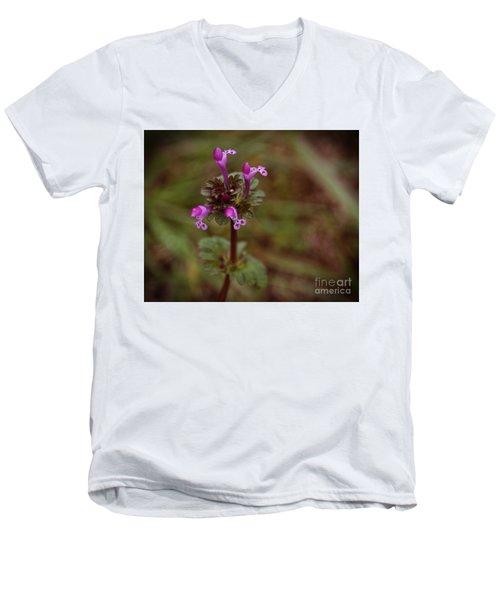 Wild Henbit Flower Loganville Georgia Men's V-Neck T-Shirt