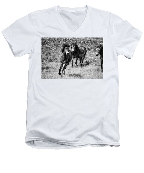 Wild Horses Bw4 Men's V-Neck T-Shirt
