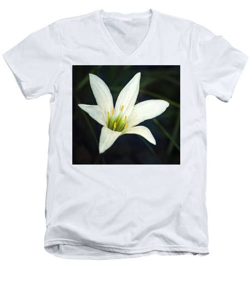 Men's V-Neck T-Shirt featuring the photograph Wild Lily by Carolyn Marshall