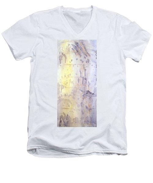 Wilderness Calligraphy - Aspen Tree Men's V-Neck T-Shirt
