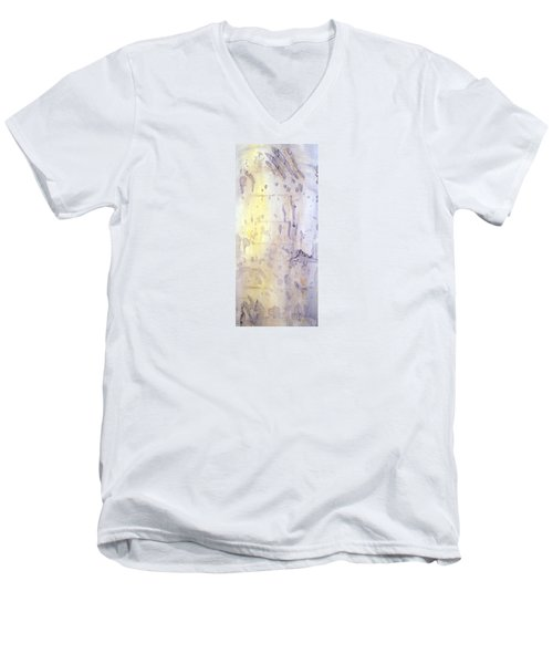 Wilderness Calligraphy - Aspen Tree Men's V-Neck T-Shirt