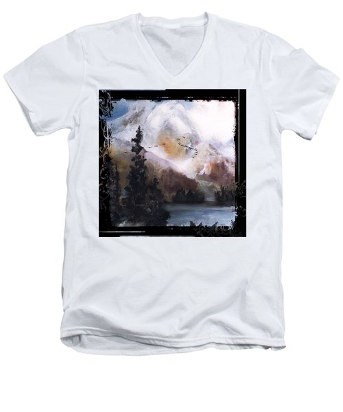Wilderness Mountain Landscape Men's V-Neck T-Shirt