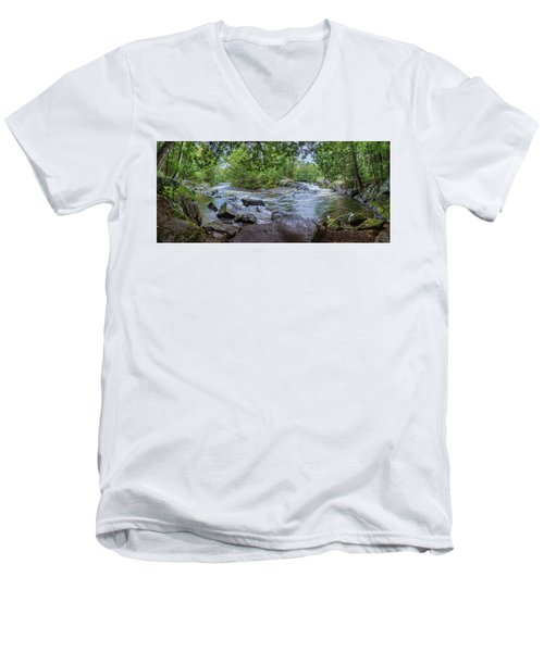 Men's V-Neck T-Shirt featuring the photograph Wilderness Waterway by Bill Pevlor