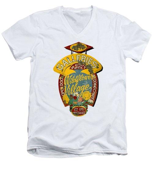Wildflower Village Men's V-Neck T-Shirt