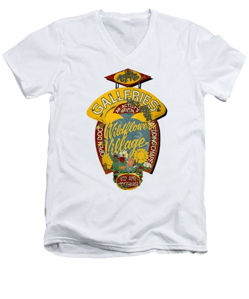 Wildflower Village Men's V-Neck T-Shirt
