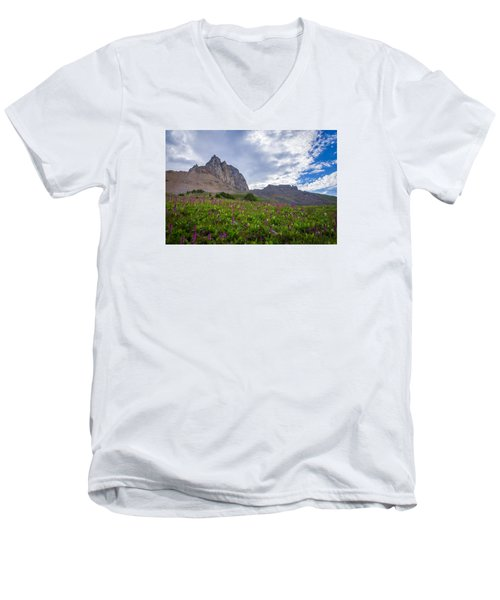 Wildflowers In The Grand Tetons Men's V-Neck T-Shirt by Serge Skiba