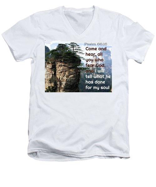 Will Do All For All Men's V-Neck T-Shirt