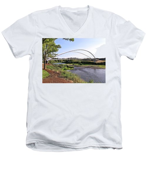 Willamette Pedestrian Bridge Men's V-Neck T-Shirt