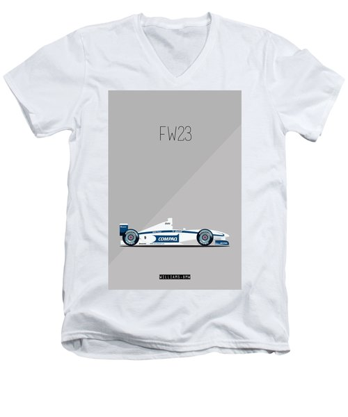 Williams Bmw Fw23 F1 Poster Men's V-Neck T-Shirt