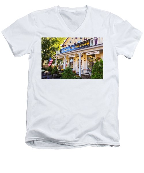 Williamsburg General Store Mass Men's V-Neck T-Shirt