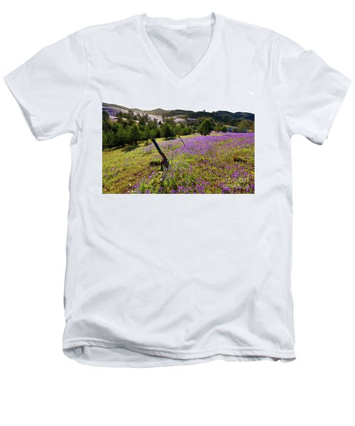 Willow Springs Station Men's V-Neck T-Shirt by Bill Robinson